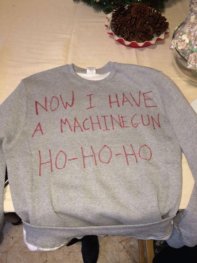Die Hard sweater